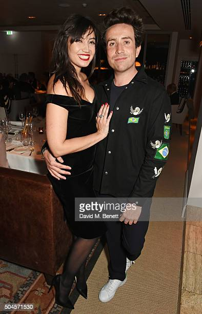 Daisy Lowe and Nick Grimshaw attend the London Collections Men AW16 closing dinner hosted by GQ editor Dylan Jones and LCM Ambassadors at Sartoria on...