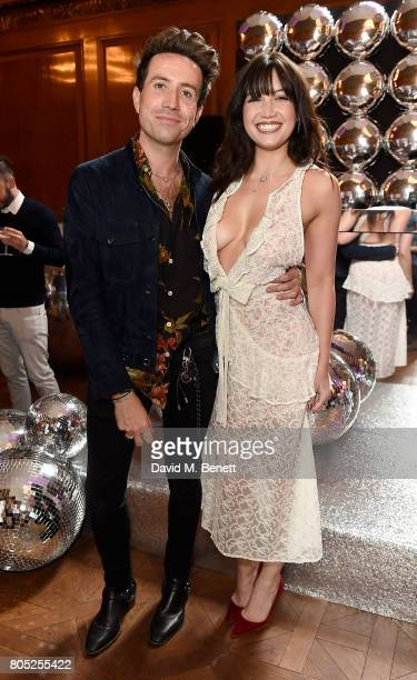 Daisy Lowe and Nick Grimshaw attend the Tinder Pride 2017 Party at The Ned on July 1 2017 in London England The party hosted by Tinder at The Ned for...