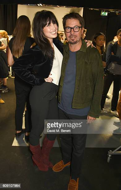 Daisy Lowe and Oliver Spencer attend Oliver Spencer Vero British GQ 'Buy Now' Catwalk Show during London Fashion Week Spring/Summer collections 2017...