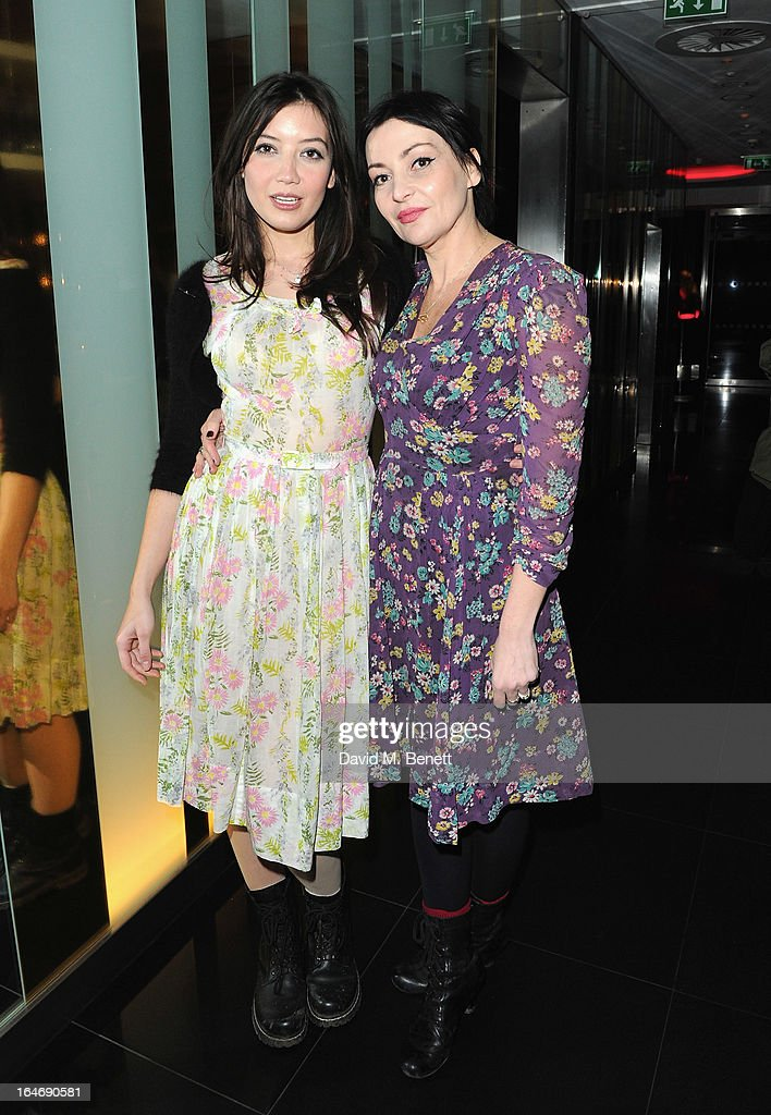 Daisy Lowe and Pearl Lowe at W London - Leicester Square for the launch of Gizzi Erskine's remix of the W Rock Tea and her book 'Skinny Weeks and Weekend Feasts' on March 26, 2013 in London, England.