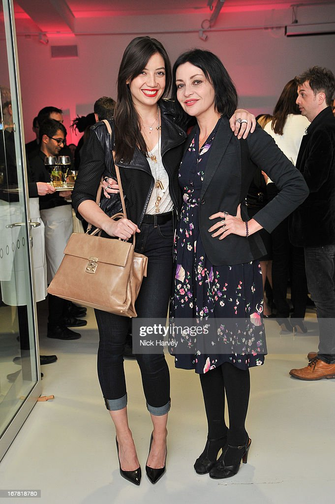Daisy Lowe and Pearl Lowe attend the opening of the Conde Nast College of Fashion and Design on April 30, 2013 in London, England.
