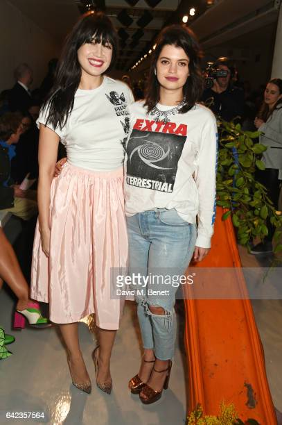Daisy Lowe and Pixie Geldof attend the Ashley Williams show during the London Fashion Week February 2017 collections on February 17 2017 in London...