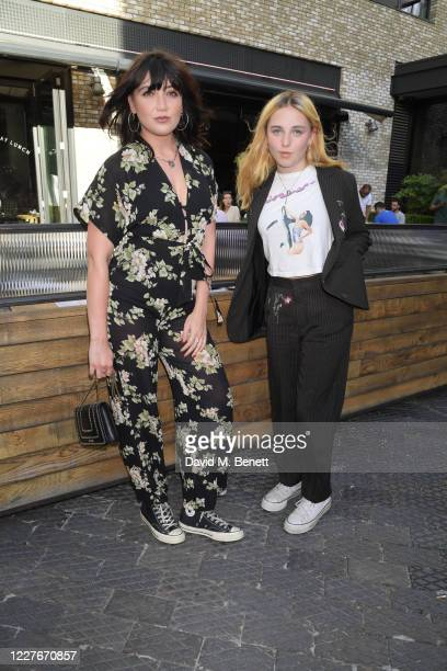 Daisy Lowe and sister Betty Goffey attend the launch of Giz Green Pizza Pies PopUp at Passo on July 17 2020 in London England