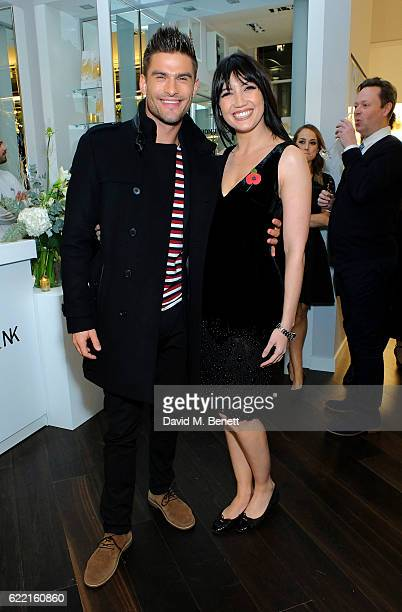 Daisy Lowe and Strictly Come Dancing partner Aljaz Skorjanec attend a preview party to unveil leading British Luxury Beauty Retailer Space NKs first...
