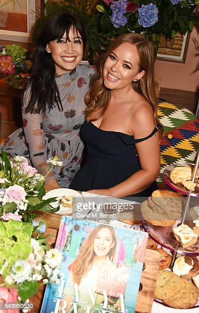 Daisy Lowe and Tanya Burr attend an intimate dinner hosted by Tanya Burr to launch her first cookbook 'Tanya Bakes' at Number Sixteen on June 30 2016...