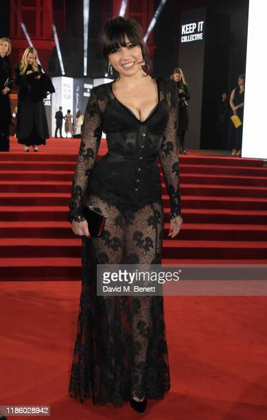 Daisy Lowe arrives at The Fashion Awards 2019 held at Royal Albert Hall on December 2, 2019 in London, England.