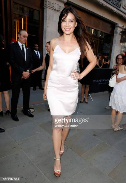Daisy Lowe arrives at The Watches Of Switzerland store launch party on July 17 2014 in London England