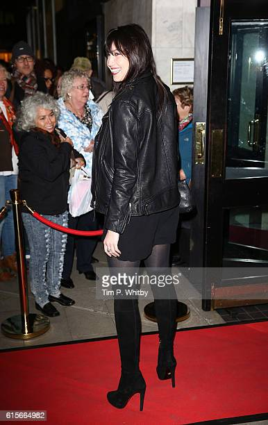 Daisy Lowe arrives for 'Burn The Floor' VIP Night at The Peacock Theatre on October 19 2016 in London England