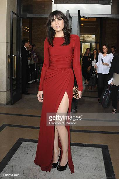 Daisy Lowe arrives for the Elie Saab Haute Couture Fall/Winter 2011/2012 show as part of Paris Fashion Week on July 6 2011 in Paris France