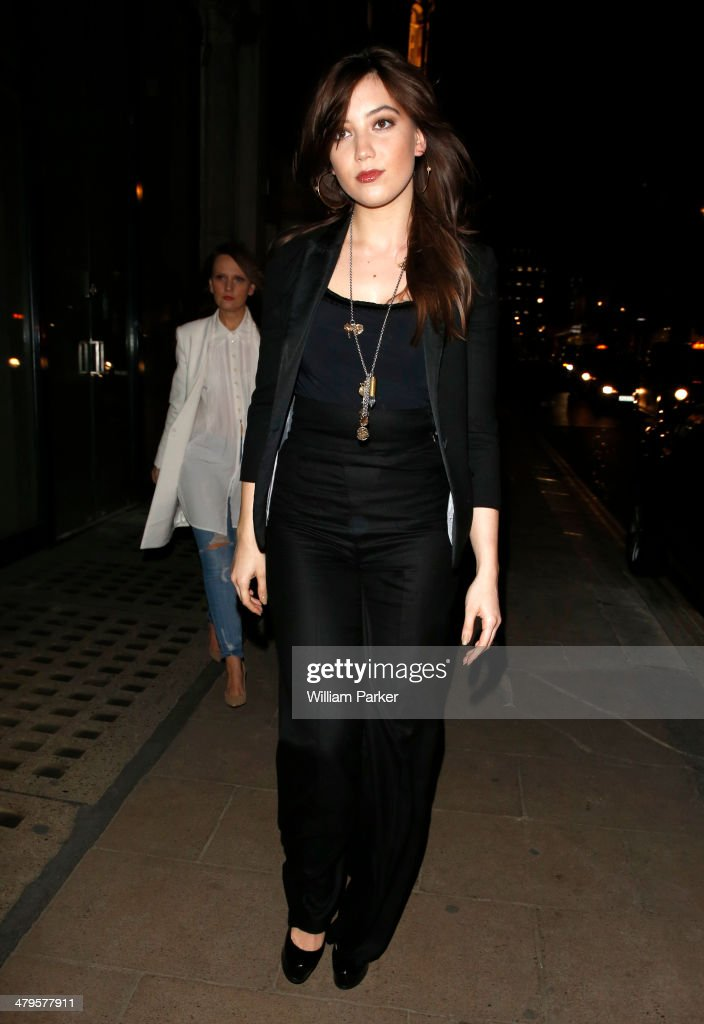 Daisy Lowe arriving at High flagship store launch party on March 19, 2014 in London, England.