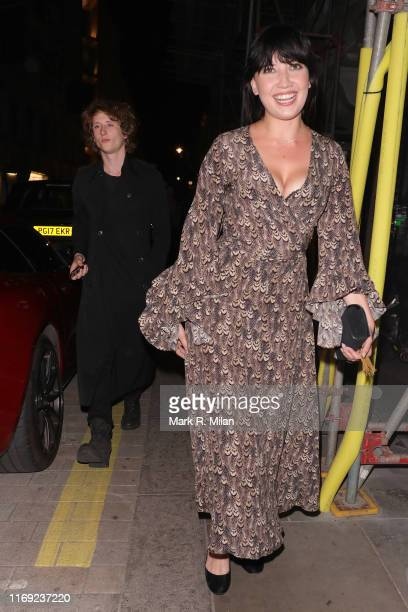 Daisy Lowe arriving at Tramp nightclub on August 20 2019 in London England