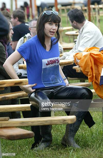 Daisy Lowe at Galstonbury Festival 2008 on June 27 2008 in Glastonbury England