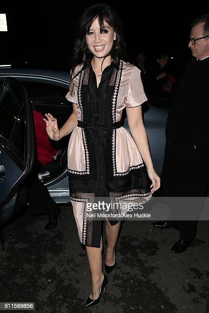 Daisy Lowe at Temperley London AW16 at Lindley Hall on February 21 2016 in London England