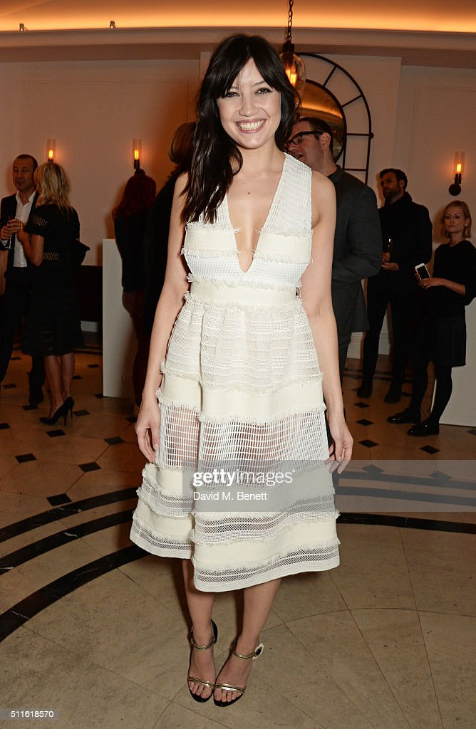 Daisy Lowe attend as mytheresa.com and Burberry celebrate the new MYT Woman at Thomas's on February 21, 2016 in London, England.