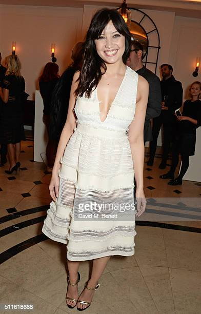 Daisy Lowe attend as mytheresacom and Burberry celebrate the new MYT Woman at Thomas's on February 21 2016 in London England
