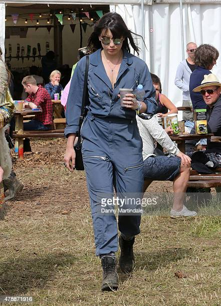 Daisy Lowe attend the Glastonbury Festival at Worthy Farm Pilton on June 28 2015 in Glastonbury England