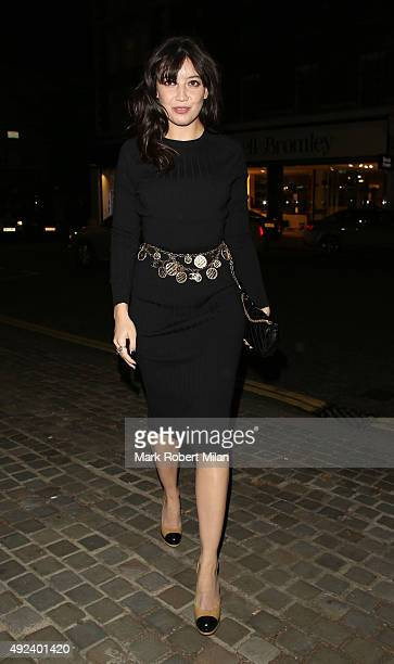 Daisy Lowe attending the Chanel Exhibition Party at the Saatchi Gallery on October 12 2015 in London England