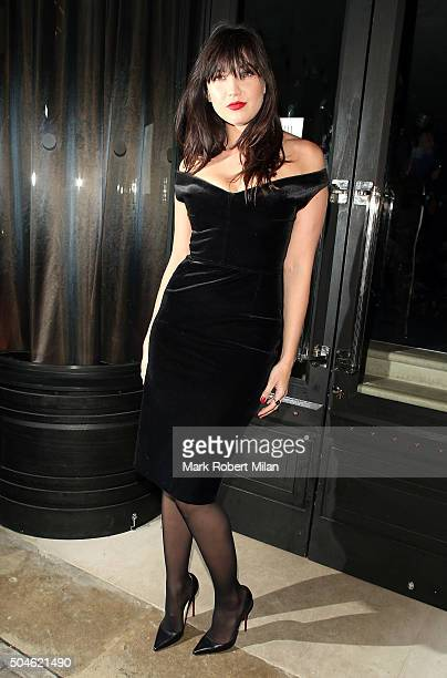 Daisy Lowe attending the GQ Closing Dinner London Collections Men Autumn Winter 2016 on January 11 2016 in London England