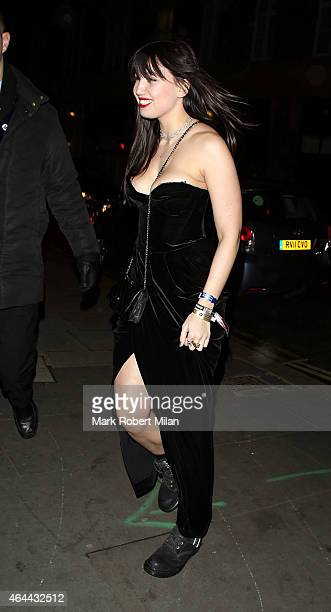 Daisy Lowe attending the Warner Music post BRIT awards party at The Freemasons Hall on February 25 2015 in London England