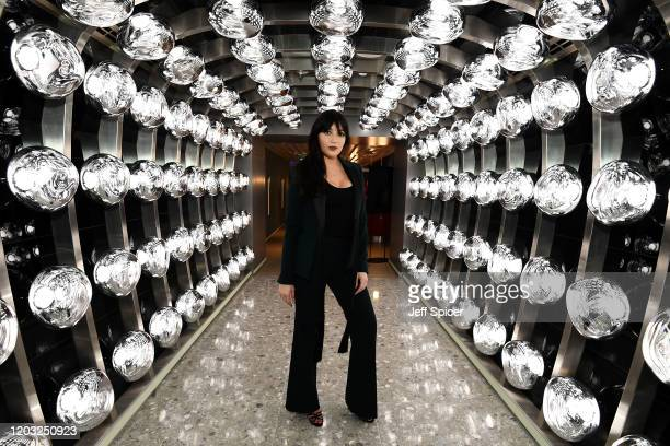 Daisy Lowe attends a drinks reception on board Virgin Voyages' new cruise ship 'Scarlet Lady' on February 25 2020 in Liverpool England