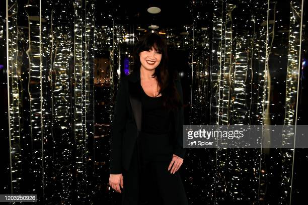 Daisy Lowe attends a drinks reception on board Virgin Voyages' new cruise ship 'Scarlet Lady' on February 25, 2020 in Liverpool, England.