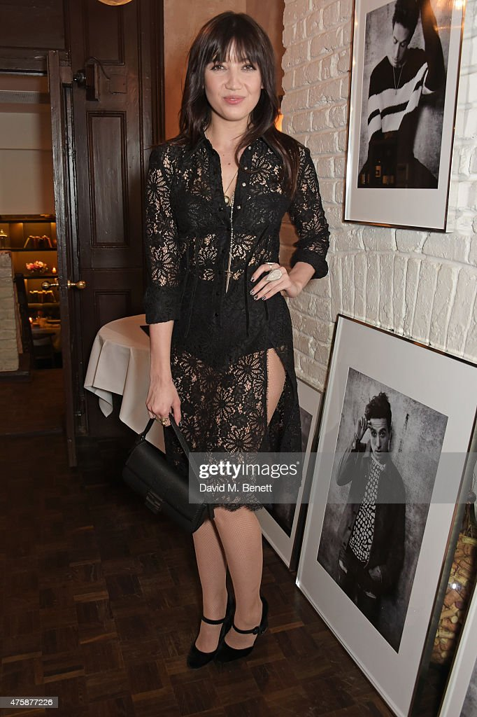 Daisy Lowe attends a private dinner celebrating the launch of the Nick Grimshaw for TOPMAN collection at Odette's Primrose Hill on June 4, 2015 in London, England.