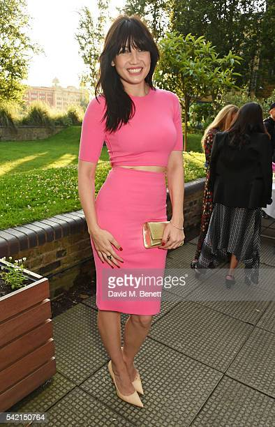 Daisy Lowe attends a private dinner hosted by Michael Kors to celebrate the new Regent Street Flagship store opening at The River Cafe on June 22...