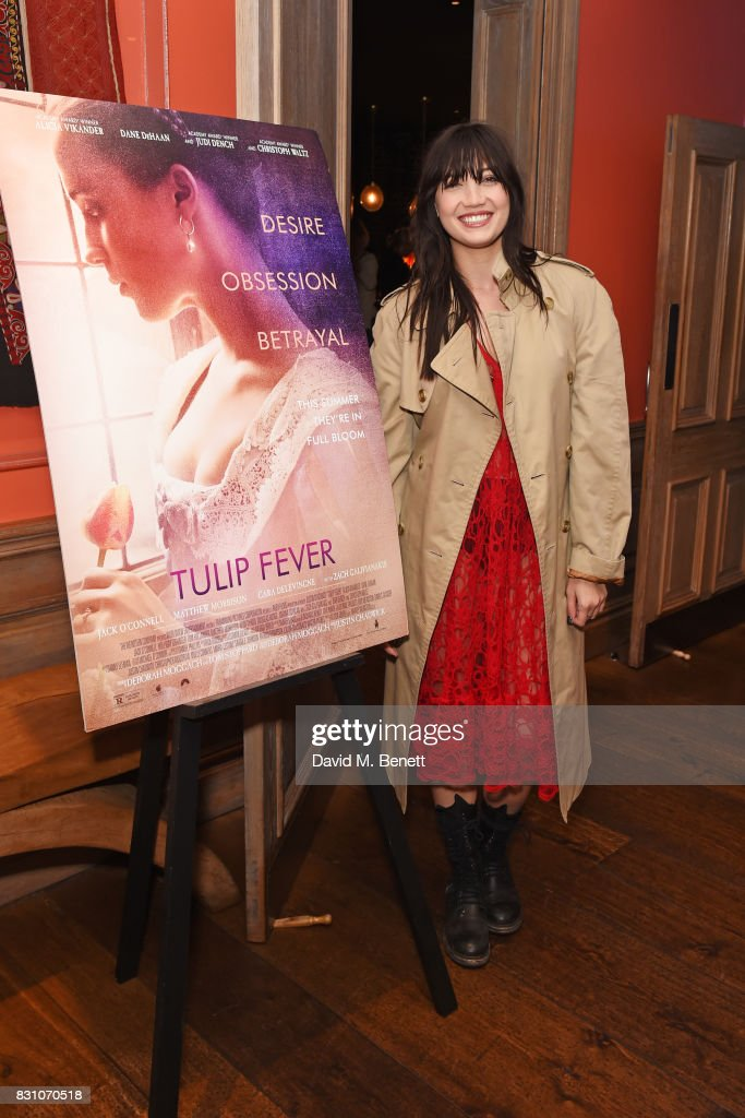 Daisy Lowe attends a VIP preview screening of 'Tulip Fever' at The Soho Hotel on August 13, 2017 in London, England.