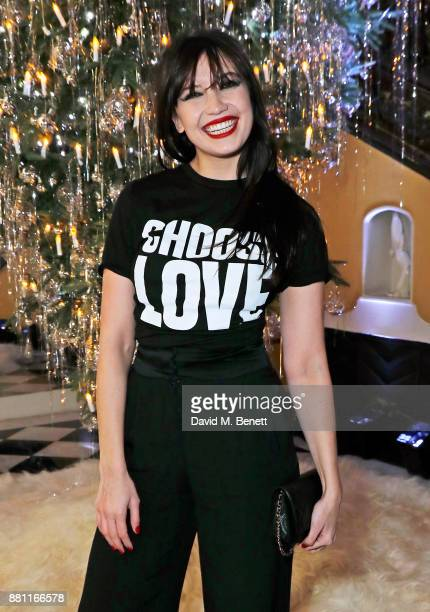 Daisy Lowe attends Claridge's Christmas Tree Party 2017 designed by Karl Lagerfeld on November 28 2017 in London United Kingdom
