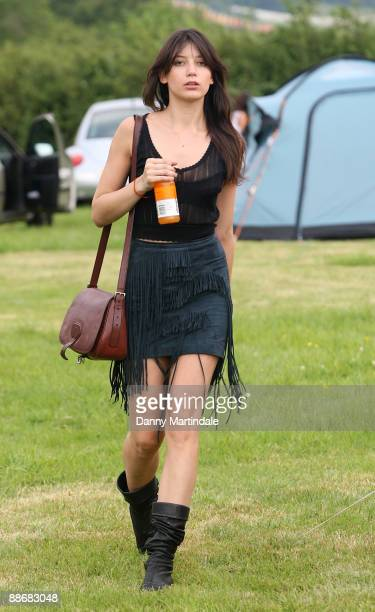 Daisy Lowe attends day one of the Glastonbury Festival at Worthy Farm on June 25 2009 in Glastonbury England
