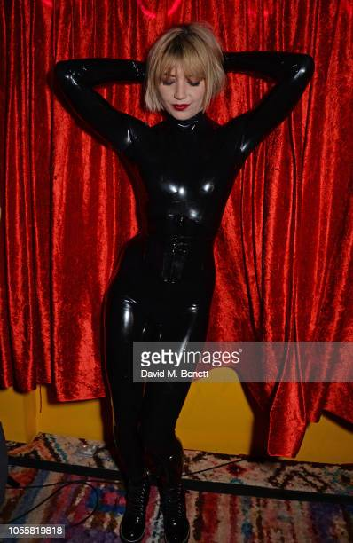 Daisy Lowe attends Fran Cutler's annual Halloween party in association with CIROC Vodka Black Raspberry at MOMO on October 31, 2018 in London,...