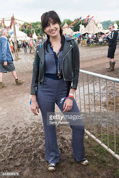 Daisy Lowe attends Glastonbury Festival 2016 at Worthy Farm Pilton on June 25 2016 in Glastonbury England
