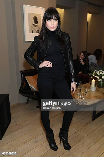 Daisy Lowe attends J Brand exclusive listening party with Lou Doillon at 155 Bar Kitchen on November 9 2016 in London England