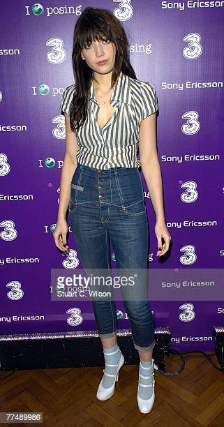 Daisy Lowe attends the 3 Sony Ericsson K770i Phone Launch Party at Victoria House, Bloomsbury on October 24, 2007 in London, England.