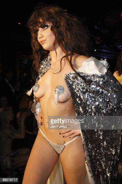 Daisy Lowe attends the Agent Provocateur fragrance launch party at the Dolce Club on September 25, 2008 in London, England.