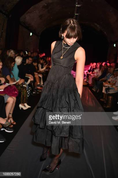 Daisy Lowe attends the Ashley Williams front row during London Fashion Week September 2018 at House of Vans on September 14 2018 in London England