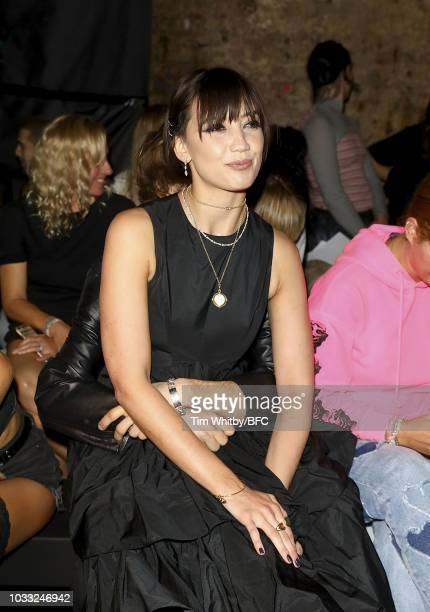Daisy Lowe attends the Ashley Williams presentation during London Fashion Week September 2018 at the House of Vans on September 14 2018 in London...