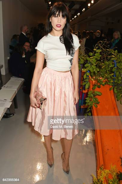 Daisy Lowe attends the Ashley Williams show during the London Fashion Week February 2017 collections on February 17 2017 in London England
