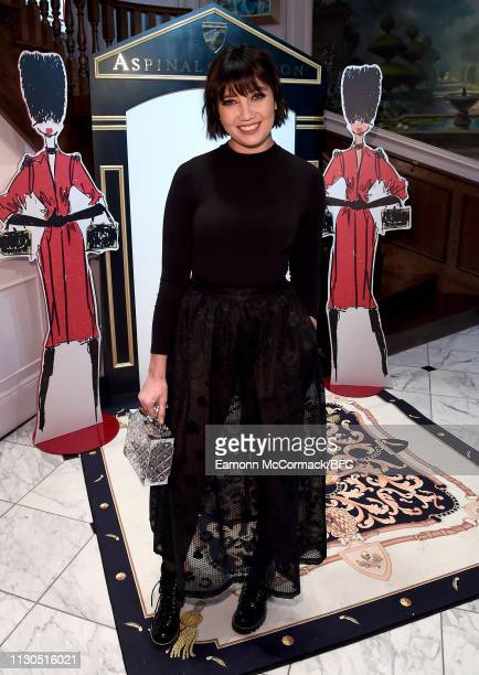 Daisy Lowe attends the Aspinal of London AW19 presentation during London Fashion Week February 2019 at the Aspinal Of London on February 18 2019 in...