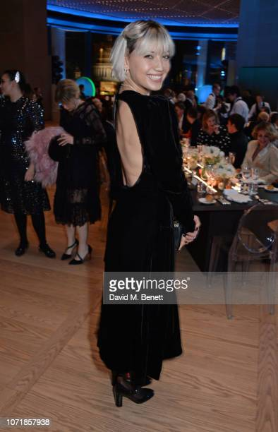 Daisy Lowe attends the Bloomberg x Vanity Fair Climate Exchange gala dinner 2018 at Bloomberg London on December 11 2018 in London England