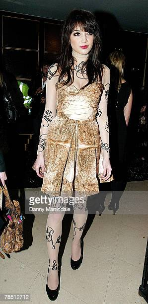 Daisy Lowe attends the British Fashion Awards at the Royal Horticultural Halls on November 27, 2007 in London, England.