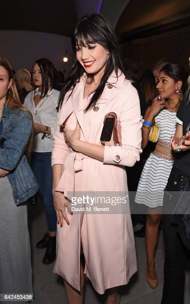 Daisy Lowe attends the British Fashion Council Fashion Film x River Island film screening and cocktail party at The Serpentine Sackler Gallery on...