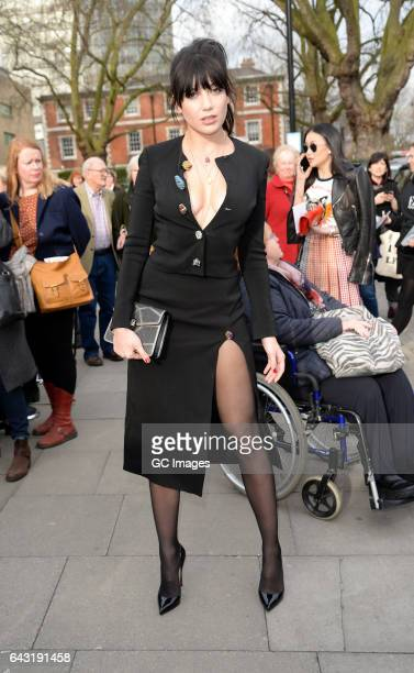 Daisy Lowe attends the Christopher Kane Fashion show on Day 4 of London Fashion Week February 2017 on February 20, 2017 in London, England.