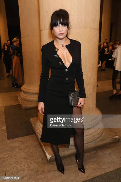73608055fe Daisy Lowe attends the Christopher Kane show during the London Fashion Week  February 2017 collections on