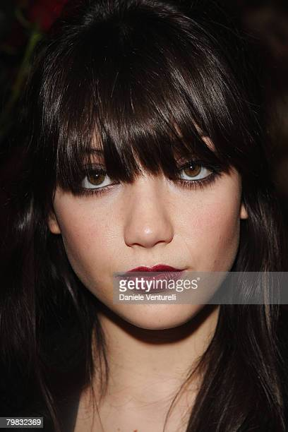 Daisy Lowe attends the Dolce Gabbana show as part of Milan Fashion Week Autumn/Winter 2008/09 on February 18 2008 in Milan Italy