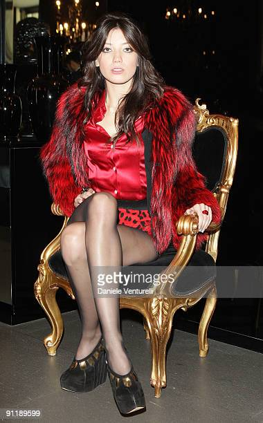 Daisy Lowe attends the Dolce Gabbana show as part of Milan Womenswear Fashion Week Spring/Summer 2010 on September 27 2009 in Milan Italy