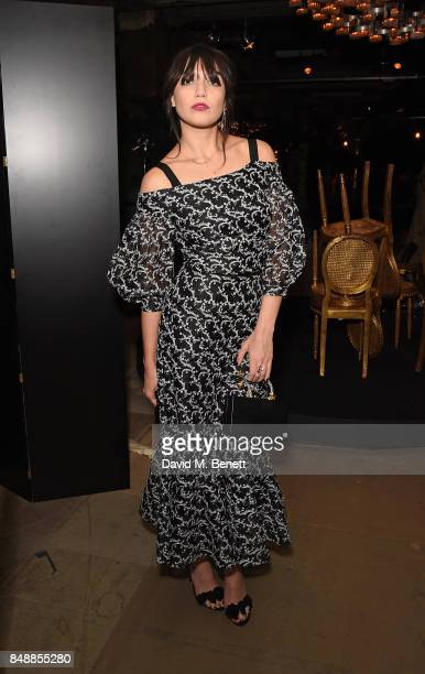 Daisy Lowe attends the Erdem catwalk show during London Fashion Week at The Old Selfridges Hotel on September 18 2017 in London England