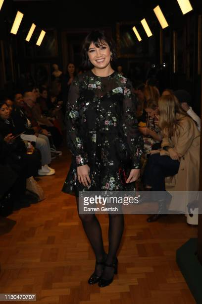 Daisy Lowe attends the Erdem show during London Fashion Week February 2019 at the National Portrait Gallery on February 18 2019 in London England