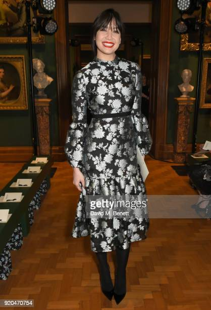 Daisy Lowe attends the Erdem show during London Fashion Week February 2018 at National Portrait Gallery on February 19 2018 in London England