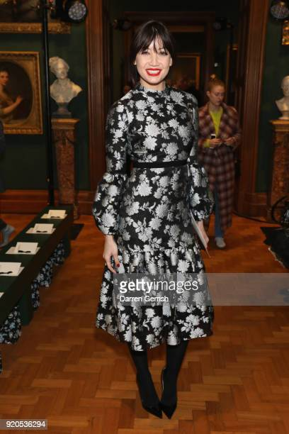Daisy Lowe attends the ERDEM show during London Fashion Week February 2018 on February 19 2018 in London England